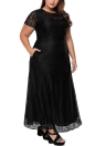 Plus Size Lace Maxi A-Line Dress