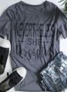 T-shirt décontracté à manches courtes et col rond