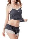 Cami Топ шорты V шеи спагетти ремень без рукавов кружева кнопки Pajama