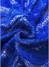 Lace Zipper Front V Neck Long Sleeve High Waist Bandage Bodycon Dress