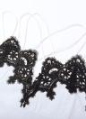 Überbackene Spitze gekreuzte Spaghetti-Trägern Mantel Minikleid