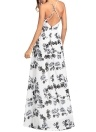 Boho Mulheres Maxi Vestido Floral Spaghetti Strap Sem Mangas Backless Beach Summer Dress