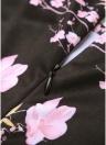 Women Floral A-Line Dress O-Neck Half Sleeve Vintage Midi Dress