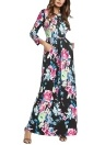 Women Summer Long Maxi Dress Floral Print  Boho Beach Dress Party Sundress