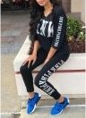 Pantalones de chándal de mujer de dos piezas Pullover Pantalones de chándal de deporte casual