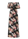 Women Maxi Chiffon Dress Floral Print High Split   Sundress Beach Long Dress