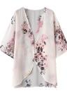 Femmes en mousseline de soie Kimono Beach Cover-Up imprimé Floral décontracté lâche Boho Cardigan survêtement