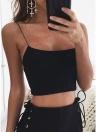 Camisola sin mangas recortada Cami Top sin espalda, sólido y bustier Club Wear