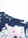 Off-the-Schulter-Schrägstrich-Blumendruck gekräuselte Hülsen-Asymmetrie-Bluse