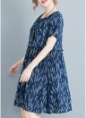 Mini-robe sans manches décontractée à manches courtes à manches courtes