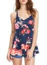 Floral Print V Neck Casual Vest Sleeveless T-Shirt