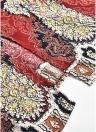 Women Tassel Print Long Skirt  Button Tie Up Boho  Beach Maxi Skirt