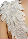 Women Lace Angel Wings Dress Summer Backless Club Party Mini Dress