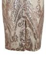 Women Summer Gold Luxury Sequin Dress Party Club Wear Midi Bodycon Dress