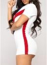 Femmes Crochet Couleur Barboteuses Zipper Front Combinaison Combishort Body Combinaison Une pièce