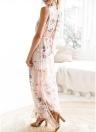Женщины Бохо Цветочные Длинные Сплит платья летом Повседневная Пляж Maxi платье