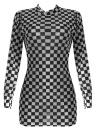 Mini-robe à carreaux en mousseline à carreaux avec imprimé à carreaux et à carreaux