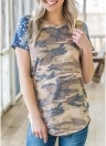 Camouflage Stars and Stripes Short Sleeves Tees