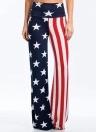 Flag Stars Stripes Print High Waist Wide Loose Baggy Legs