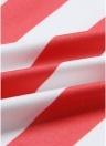 Флаг Звезды Полосы Печать Высокие талии Широкие рыхлые мешковатые ноги