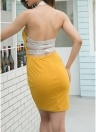 С плечом Холтер Backless Юбка Bandage Slim Bodycon Мини платье