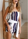 Spaghetti Strap High Waist Summer Short Mini Jumpsuit