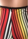 Colorful Stripes Halter Backless Flared Pants Slim Playsuit