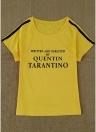 T-shirt à manches courtes femmes O Neck Raglan Letters Print
