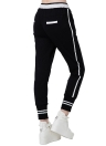 Fashion Stripe Elastic Waistband Drawstring Pockets Yoga Sport Harem Pants