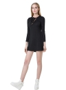 Anself Sexy V Neck Long Sleeve Lace Up Slim Casual Dress