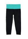 Neue Mode Frauen zugeschnittene Yoga Hosen Kontrast elastische Taille Sport Fitness Hose Capri Leggings ausgeführt