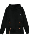Nova moda mulheres Hoodie camisolas Self amarrar bolsos pulôver com capuz solto Tops