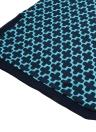 Trendy Cross Print Split Round Neck 3/4 Sleeve Casual Mini Dress