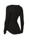 Casual Long Sleeve Solid Color Slim T-shirt