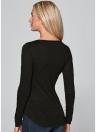 Новая мода женщин футболку крючком кружева группа круглый шею длинным рукавом Slim Fit твердых случайные Блузка зеленый/белый/хаки