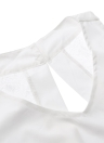 Nouveau femmes Sexy combinaison dentelle dos ouvert Splice V cou sans manches Casual Combi barboteuses Culotte blanc