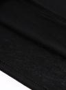 Letter Print Sleeveless Backless Halter Black Crop Top