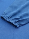 Новый Европы женщин шифоновое платье сплошной цвет подол нерегулярные V шею длинным рукавом большого размера платье
