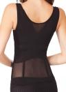 Frauen, die Floral Body Schlankheits-Shapewear Unterbrust-Taille Cincher Netz Body Shaper Korsetts schwarz/Beige