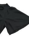 Moda mujer vestido encaje frontal profunda V cuello manga corta cremallera trasera Mini vestido negro