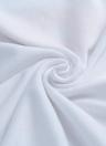 Graphic Print O-Neck Short Sleeve Plus Size White T-Shirt