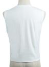Nuova moda donna canotta Seashells stampa O-collo senza maniche Gilet Casual t-shirt White