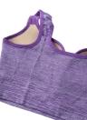 Moda mujer deportes sujetador acolchado transparente recortada gimnasio Top Bra Yoga chaleco
