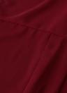 Nouveaux vêtements femme chemisier ourlet asymétrique sans manches en mousseline de soie Turn-Down col chemise Tops Bourgogne/noir