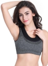 Mulheres profissionais push-up esportes sutiã malha falso de duas peças Fitness colete sutiã Workout Yoga executando a parte superior do tanque