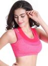 Женщины профессиональный пуш-ап спортивный бюстгальтер поддельные два куска сетки йога жилет бюстгальтер тренировки фитнес работает безрукавка