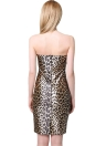 Sexy Sweetheart Neck Leopard Bodycon Strapless Cocktail Party Dress