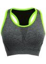 Neue Mode-Frauen-Sport-BH Push-Up drahtloses Mesh Ringerrücken gepolsterte volle Tasse Yoga Fitness Tank-Top