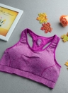 Fashion Mesh Racer Back Padded Full Cup Push Up Sports Bra