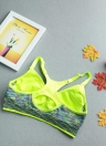 Мода женщин спортивный бюстгальтер беспроводной регулируемые ремни съемные прокладки Топ эластичные тренажерный зал фитнес бюстгальтер